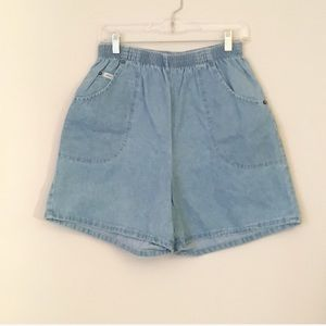 Vintage Denim Shorts w Elastic Waist